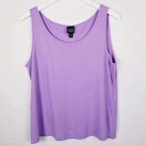 Eileen Fisher Lavender 100% Silk Tank - L